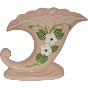 1946 Hull Pottery Cornucopia Vase Rosella Pattern