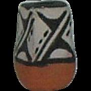 Vintage Doll House Size Miniature Jemez Pueblo Pottery Vase