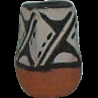 Miniature Jemez Pueblo Pottery Vase