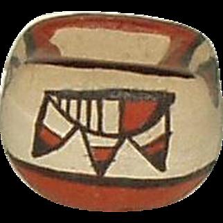Vintage Miniature Jemez Pueblo Pottery Bowl