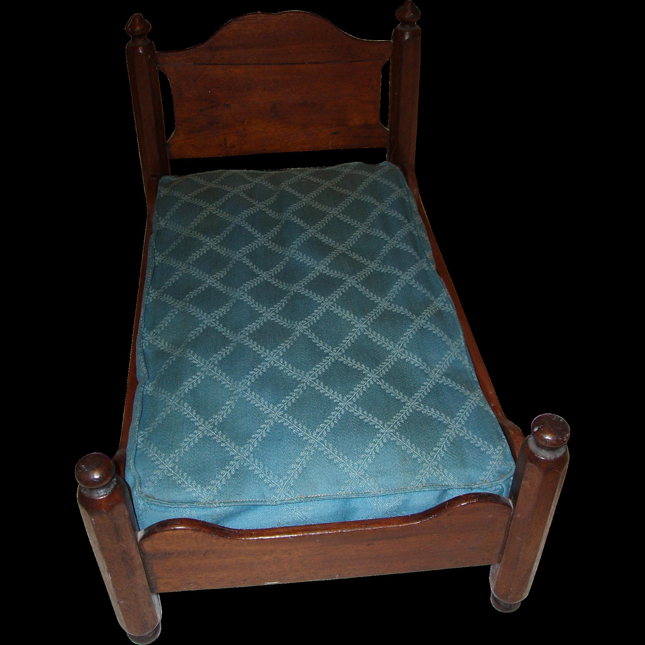 Vintage Wooden Bed 80