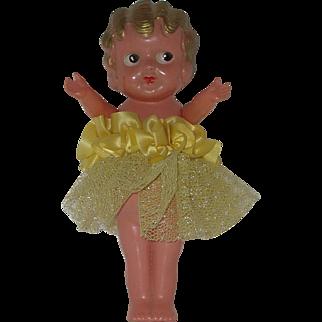 "Vintage Occupied Japan 8"" Celluloid Kewpie Doll All Original  Circa 1945-1950"