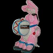 """Pink Plush 21"""" Energizer Bunny Advertising Toy  1995"""