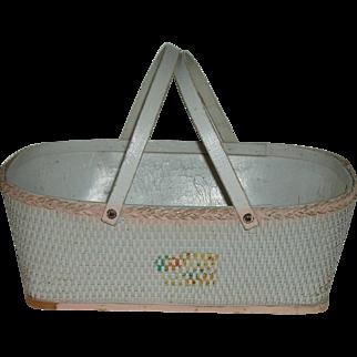 Vintage Baby Bassinet Circa 1940