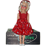 "Little Miss Teena 8""Hard Plastic High Heel Doll In The Box  Circa 1950's"