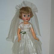"""Vintage 17"""" Vinyl Bride Doll  Circa 1958"""