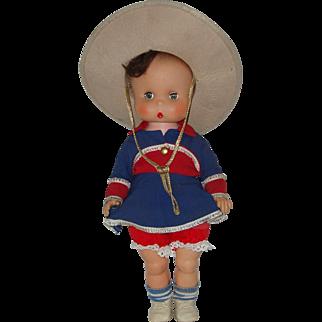 "Vintage 15"" Vinyl Cowgirl Doll  Circa 1960"