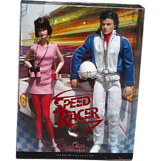 2007 Mattel Barbie And Ken Speed Racer Gift Set Pink Label