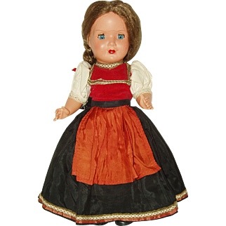 "15"" Vintage International Costume Doll"