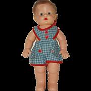 "Vintage 10"" 1 Piece Rubber Boy Doll"