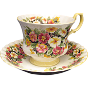 Royal Albert Bone China Primula Bone China Teacup Saucer