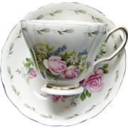 Royal Vale English Bone China Floral Teacup Saucer