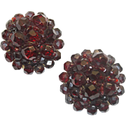 Coppola e Toppo Deep Red Domed Earrings
