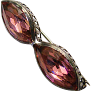 Sterling Victorian Pink Bar Pin