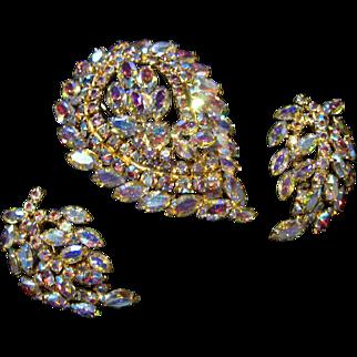 Fabulous Aurora Borealis Pin Earrings