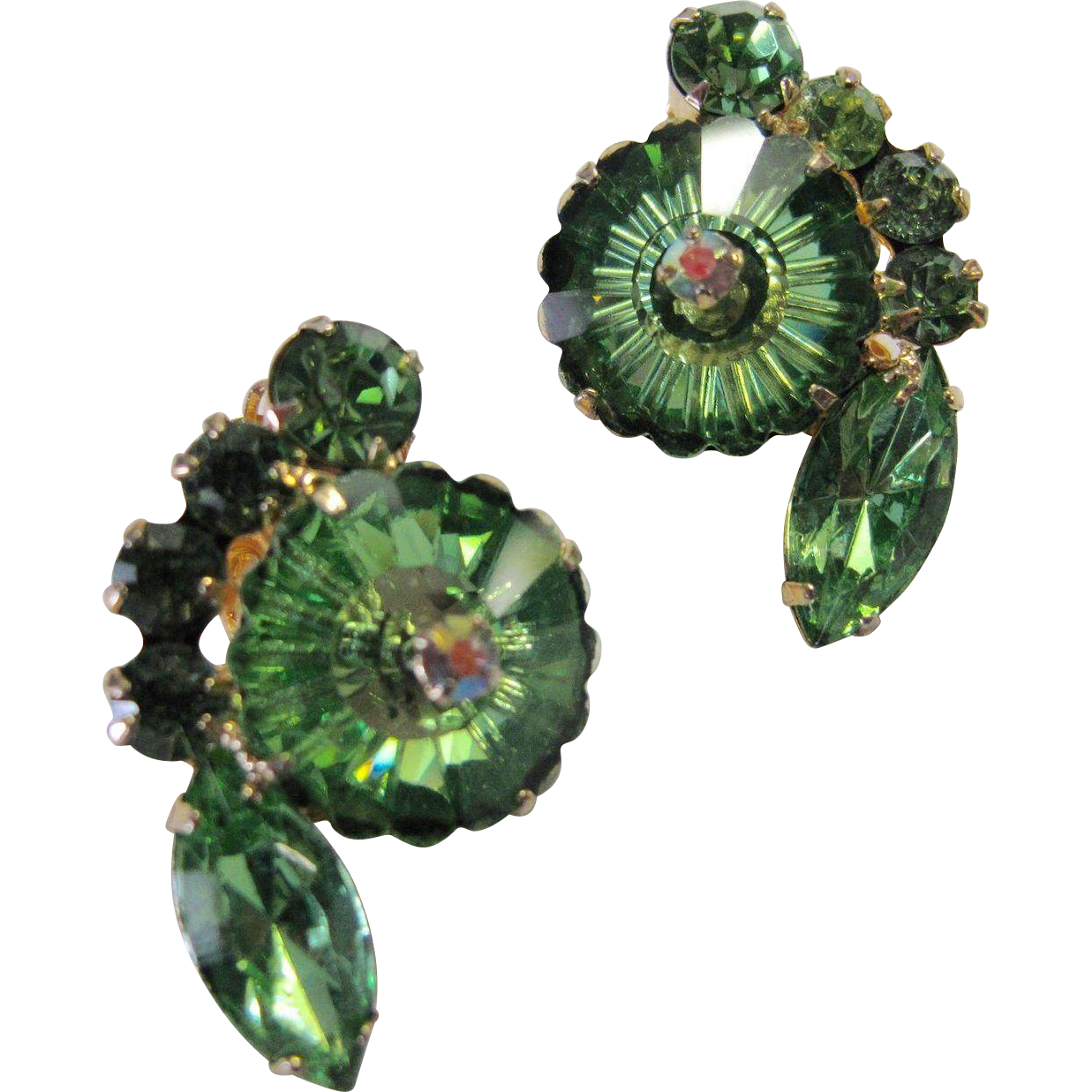 Juliana DeLizza & Elster Green Rivoli Margarita Earrings