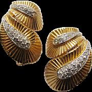 D'Orlan Gold Rhinestone Earring