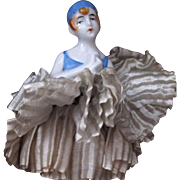 Pierrette Half Doll on Base Schneider Book Piece