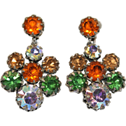 Vibrant Vendome Autumn Coloured Earrings