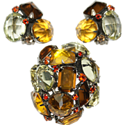 Schreiner Autumn Tall Domed Pin Earrings Set