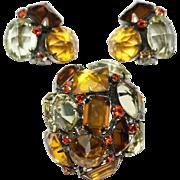 Schreiner Autumn Tall Domed Pin Earrings Set