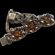 Hobe Sterling Topaz Floral Bracelet