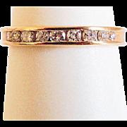 18k Yellow Gold Wedding Band ~ circa 1960's