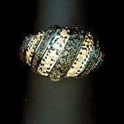 Diamond & Sapphire Dinner Ring ~ circa early 1980's