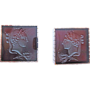 Set of Italglia Cufflinks and Tie Pin in 14k Pink Gold ~ circa 1940's