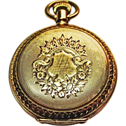 18k Yellow Gold Elgin Timepiece ~ circa 1887