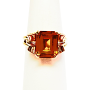 Genuine Topaz Ring in 14k Yellow Gold ~ circa 1960's