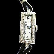 Diamond & Platinum Elgin Watch ~ circa 1020's