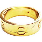 Vintage Cartier World Love Ring in 18k Yellow Gold