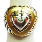 David Yurman Heart Ring ~ circa 1980s
