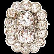 Diamond Dinner Ring in Platinum ~ 1930's
