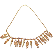 Intricate Gold & Spinelle Antique Necklace ~ circa mid/late 1800's