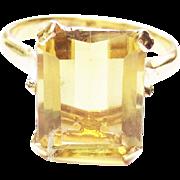 Genuine Citrine Topaz Ring in 14k Yellow Gold ~ circa 1960's