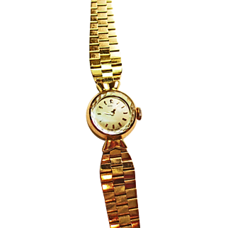 Ladies Omega Watch in 14k Yellow Gold ~ circa 1960's