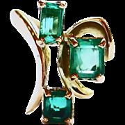 Emerald Ring in 18k Yellow Gold ~ circa 150's