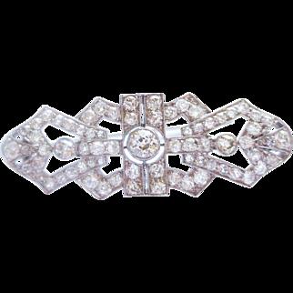 Diamond Pin in Platinum ~ circa mid 1920's