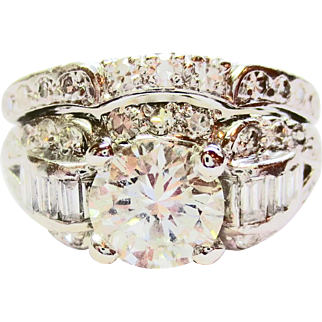 Diamond Wedding Set in Platinum ~ circa 1930'a