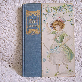 "Early 1900's Decorative Book ~ ""A Child's Garden of Verses"" ~ Robert Louis Stevenson, poetry"