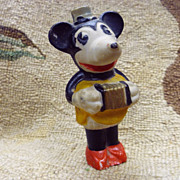Vintage 1930's Bisque Minnie Mouse ~ Playing Accordion Squeeze Box