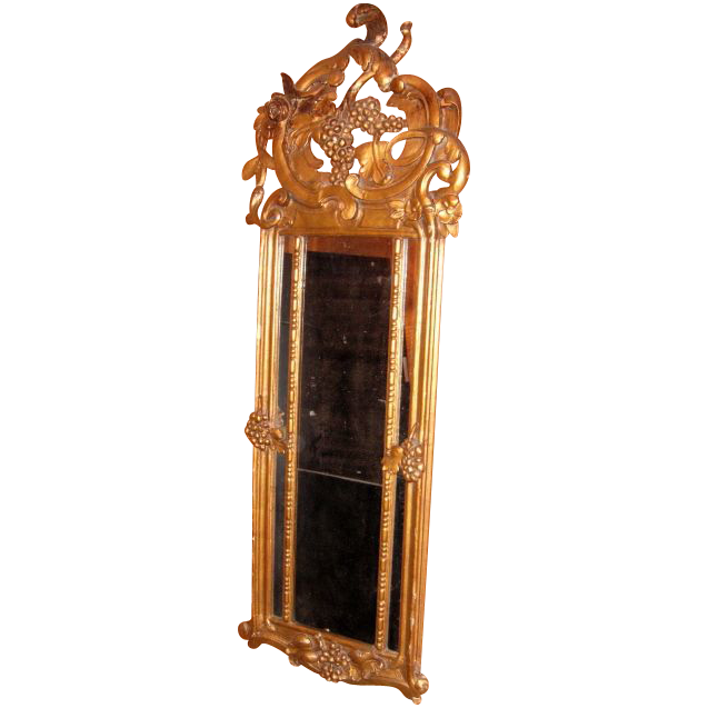 Antique Gilt Grape Harvest Mirror