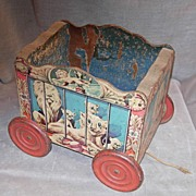 GONG BELL Toy Circus Wagon #901