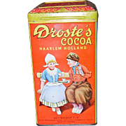 DROSTE'S COCOA Tin w/Original Recipe Booklet C. 1900's