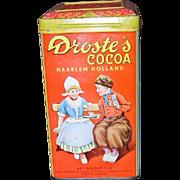 DROSTE'S COCOA Tin w/Original Recipe Booklet C. 1900's