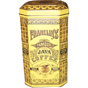 Franklin's Half Pound Famous Java Coffee Tin