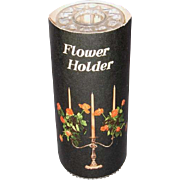 Isabella Twin-Pack Plastic Candlestick Flower-Holders, Flower Frog