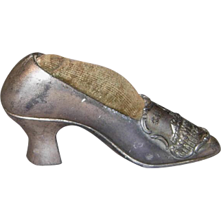 Antique Souvenir Shoe Pin Cushion